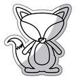 Isolated fox cartoon design vector image