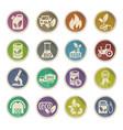 bio fuel icon set vector image