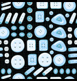 buttons seamless pattern on a theme vector image