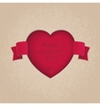 Red heart cut in the cardboard vector image vector image