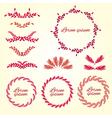 Set flower ornament Design elements vector image