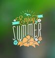 Vintage Hipster Summer Holidays Label or Badge vector image