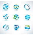 abstract globe symbol setcommunication and vector image