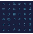 Outline icon collection - cooking kitchen tools vector image