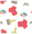 Printer pattern cartoon style vector image