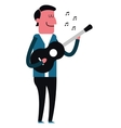 man playing guitar icon vector image