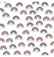 cute rainbown fantasy pattern vector image