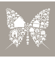 House the butterfly vector image vector image