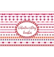 Valentines Day borders set Cute heart flowers vector image