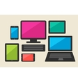 Set of tablet computers and smart phone vector image