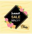 summer flowers gold frame or summer floral design vector image