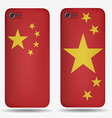 Rear covers smartphone with flags of China vector image vector image
