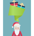 Cute Santa with a speech bubble and gifts vector image vector image