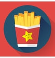 French fried potato in paper box Fast food vector image