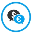 Euro And Dollar Transactions Rounded Icon vector image