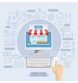 Shopping online business conceptual flat style vector image vector image