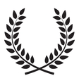 Award Laurel Wreath Winner Leaf label Symbol of vector image