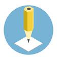 Pen isometric icon vector image