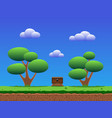 seamless smooth cartoon game background vector image