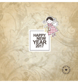 New year card with copy space vector