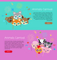 animals carnival collection of face masks for vector image vector image