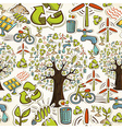 Go Green icons seamless pattern vector image