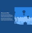 flat amusement park background vector image