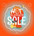 summer sale hot summer vector image vector image
