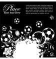 soccer ball theme vector image