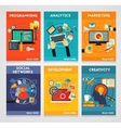 Flat concept banners Programming Analytics vector image