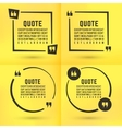 Quotes template set vector image
