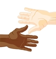 Hand european and african vector image