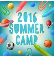 Summer camp 2016 themed poster vector image vector image