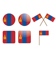 badges with flag of Mongolia vector image
