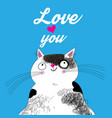 big cat in love vector image