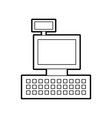 cash register machine keypad display for vector image