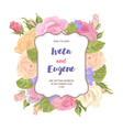 flower card with inscription on frame vector image