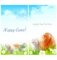 happy easter card 10 v vector image