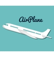 icon airplane travel vacations design vector image