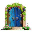 old wooden door in the garden vector image