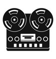 retro tape recorder icon simple style vector image