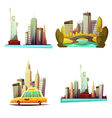 New York Downtown 2x2 Design Compositions vector image