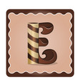 letter e candies vector image