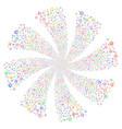 clock fireworks swirl rotation vector image