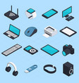 isometric wireless mobile devices vector image