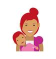 mother motherhood babysitting vector image