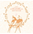 swallows invitation vector image
