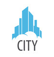 logo Blue City on the cloud vector image