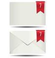 White Closed Mail Box Alert Icon vector image