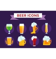 Beer bottle sign icons set vector image